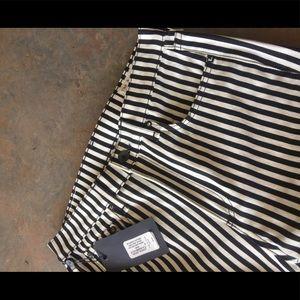 Rag & Bone Jeans white and black stripe size 27